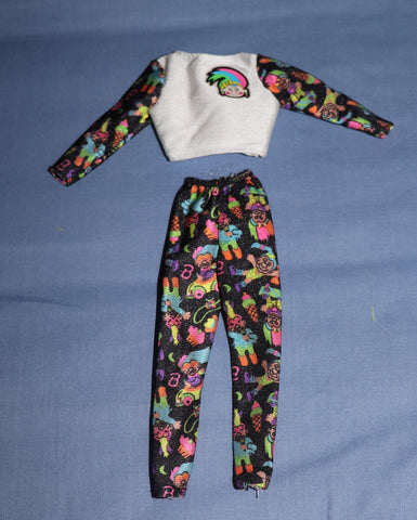 Barbie Clothes -- 1992 Troll Barbie Pants and Top