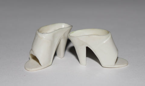 Tuesday Taylor Shoes -- White Mules HTF