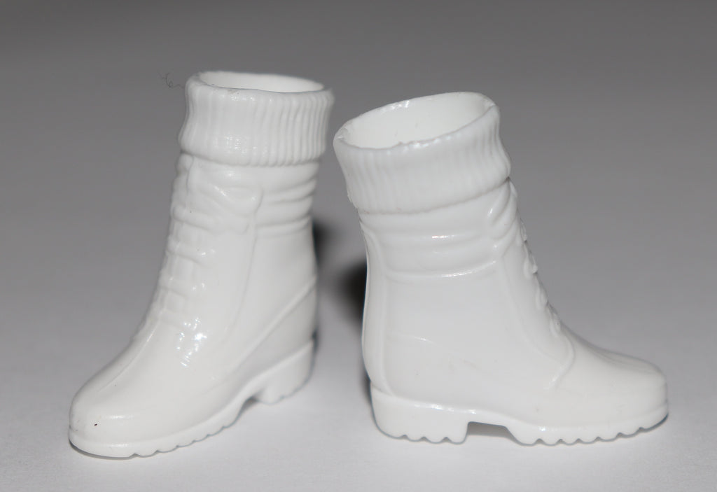 Barbie Shoes -- White Sock Top Boots