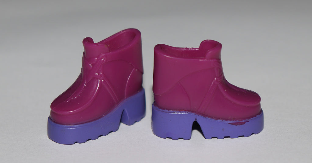 Barbie Shoes -- Purple Rubber High Top Hiking Boots