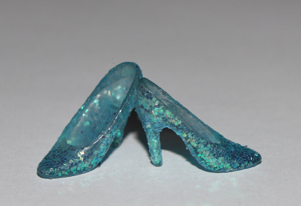 Kenner Miss America Shoes - Green Glitter Pumps