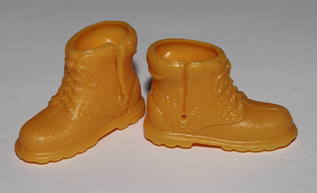 Ken Doll Shoes -- Tan Retro High Top Hiking Boots