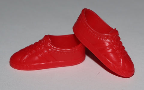 Ken Doll Shoes -- Bright Red Classic Sneakers HFT