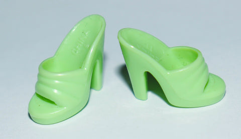 Barbie Shoes -- Lime Green Dainty Mules