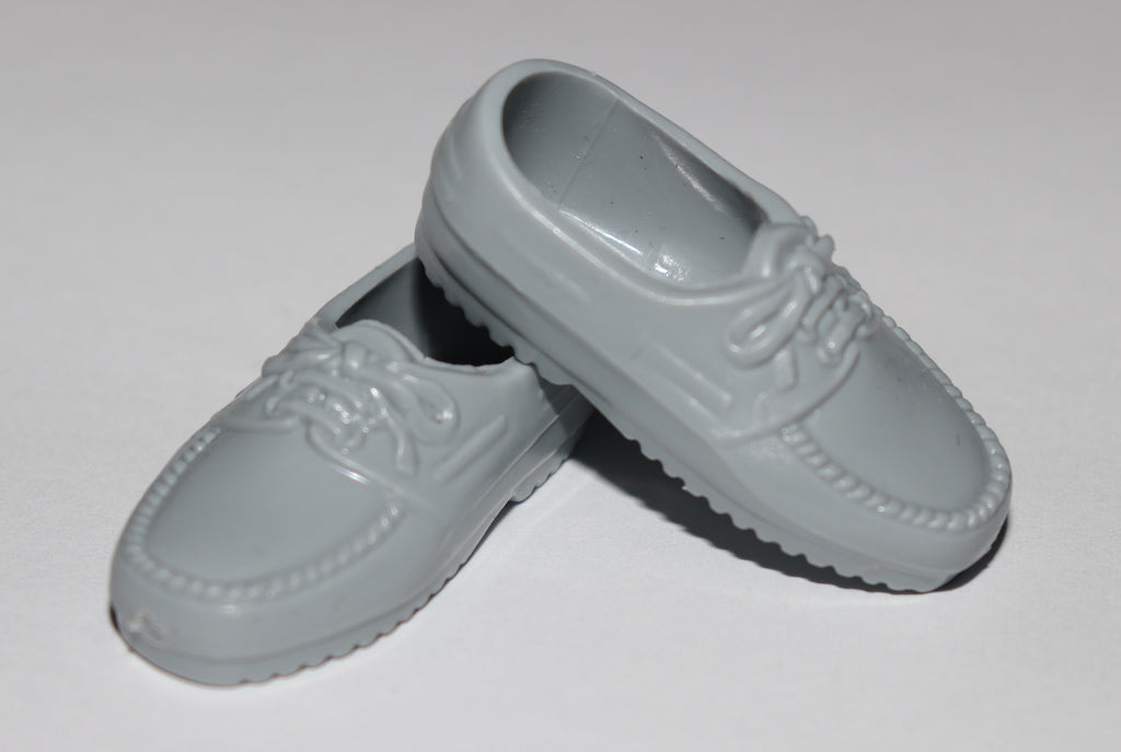 Ken Doll Shoes -- Grey Loafers Oxfords