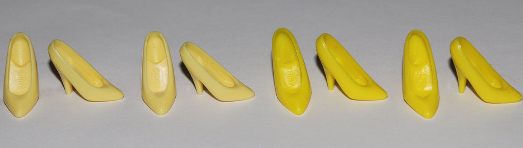Barbie Shoes -- Lot of Yellow Superstar Era Classic Pumps