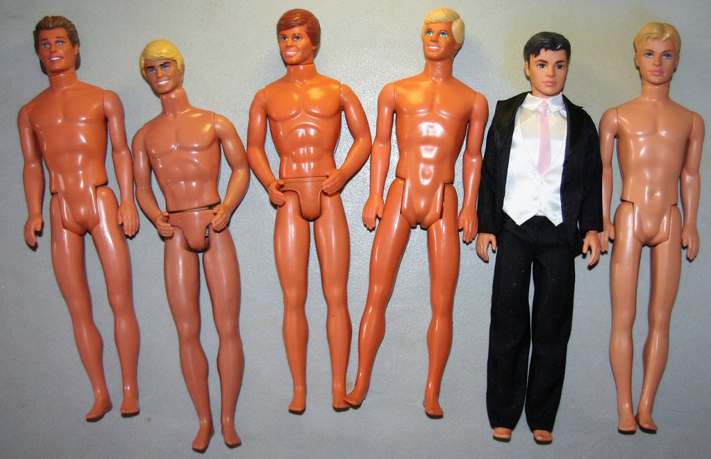 Lot of Painted Hair Nude Kens Inc. Some Superstar Era