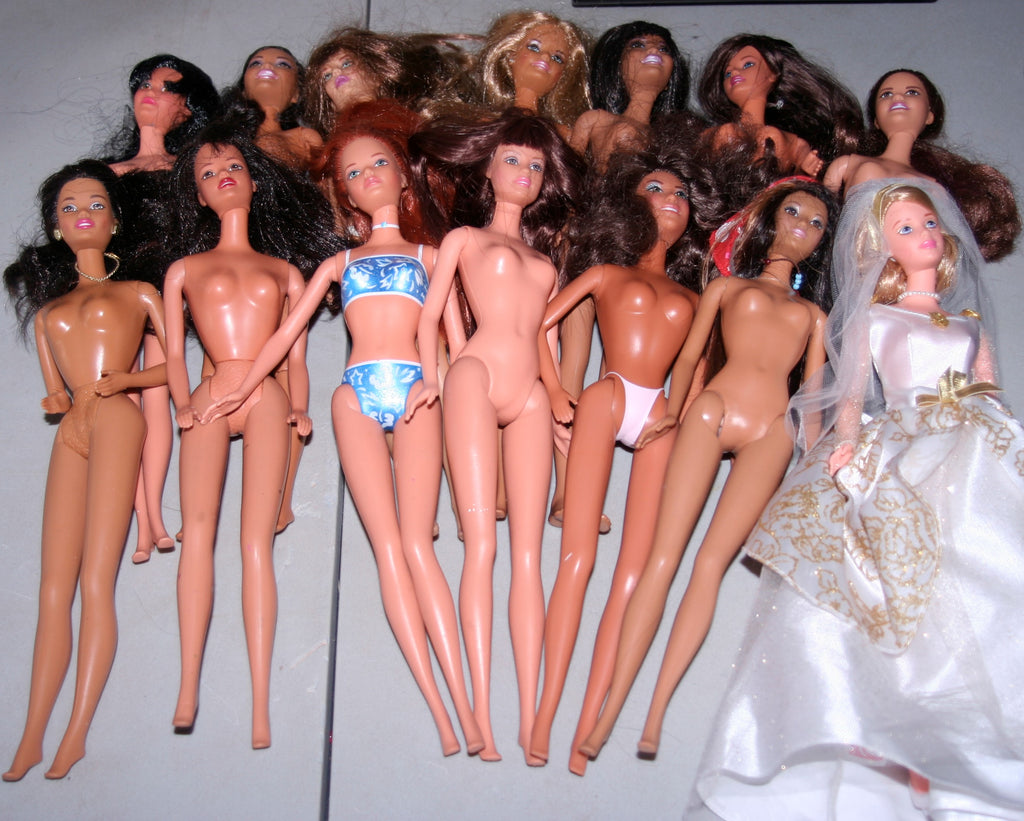 Large Lot of Nude Barbies & Clones -- AA, Mackie, Kira, Teresa, Midge Etc.
