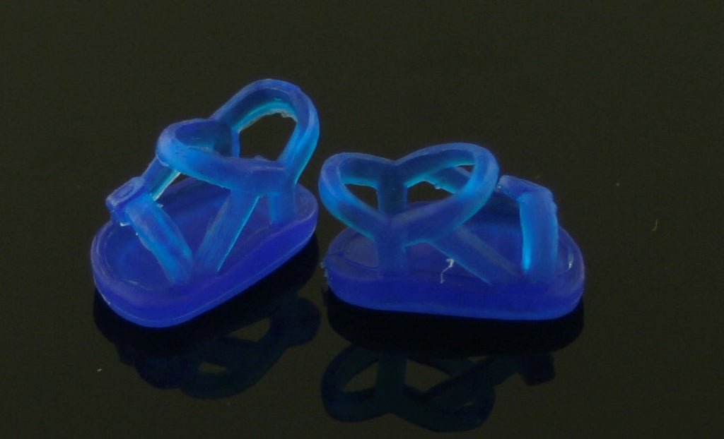 Kelly/Shelly/Tommy Doll Shoes -- Translucent Blue Sandals