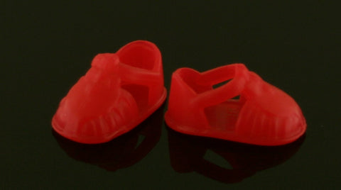Kelly/Shelly Doll Shoes -- Bright Red Sandals