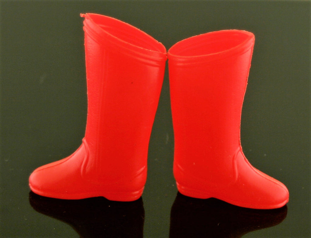 "Vintage Mego Boots -- Red 8"" Superman Boots"