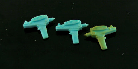 "Lot of 3 Original Vintage Mego 8"" Star Trek Blue Phasers"