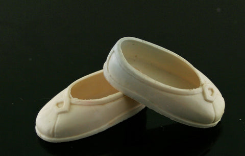 "Kenner Princess Leia White Rubber Shoes for 12"" 1978 Figure"