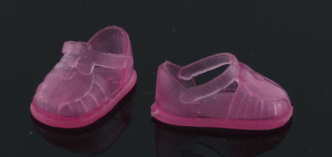 Kelly/Chelsea Doll Shoes -- Translucent Pink Sandals Jellies