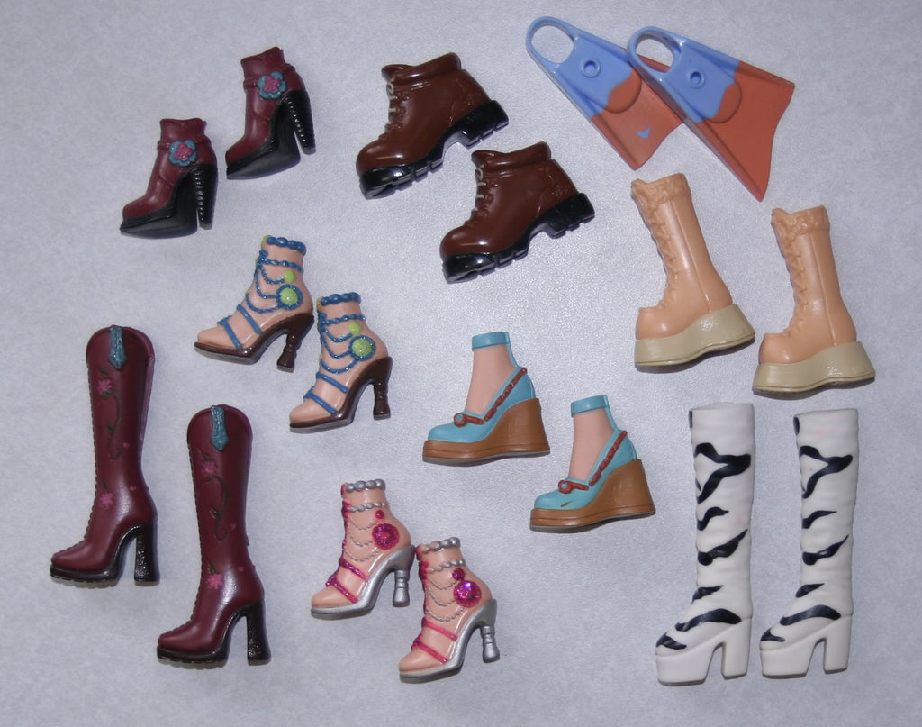 My Scene Barbie & Ken & Other Doll Shoes -- Large Lot for Play, Repainting