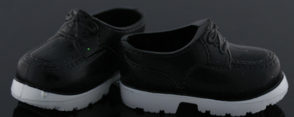 Ken Doll Size Shoes -- Black and White Oxfords -- Modern