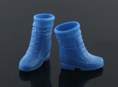 Barbie Shoes -- Blue Rubber Sock Top Hiking Boots