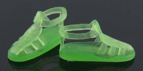 Skipper Size Shoes -- Green Translucent Jelly Sandals