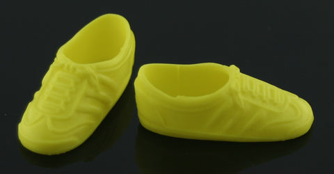 Barbie Size Shoes -- Neon Yellow Classic Sneakers -- Modern