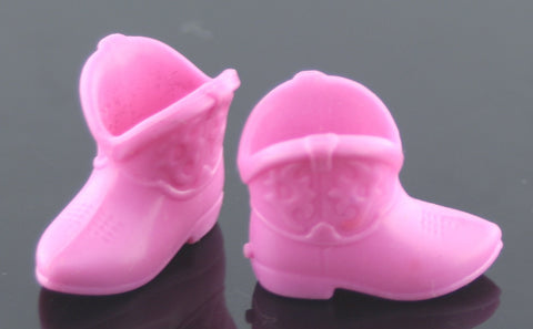 Mattel Kelly or Chelsea Doll Shoes -- Rose Pink Cowboy Boots