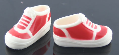 Barbie Shoes -- Red and White Sneakers -- Modern