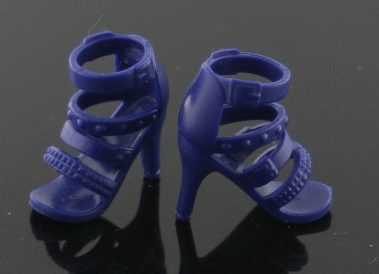Spin Master Liv Shoes -- Dark Blue Strappy Sandals -- HTF!