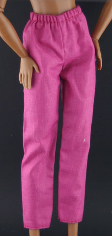 Barbie Size Clothes -- Pinkish Purple Cotton Slacks