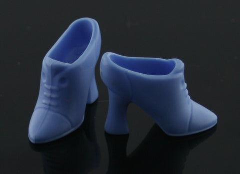 Barbie Shoes -- Light Blue Victorian Ankle Boots