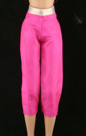Skipper Sized Clothes -- Hot Neon Pink Capris W/ Attached Belt