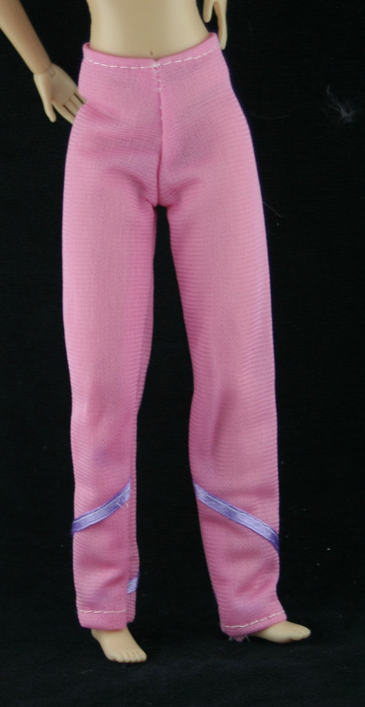 Barbie Size Clothes -- Pink & Purple Pants (Not Mattel)