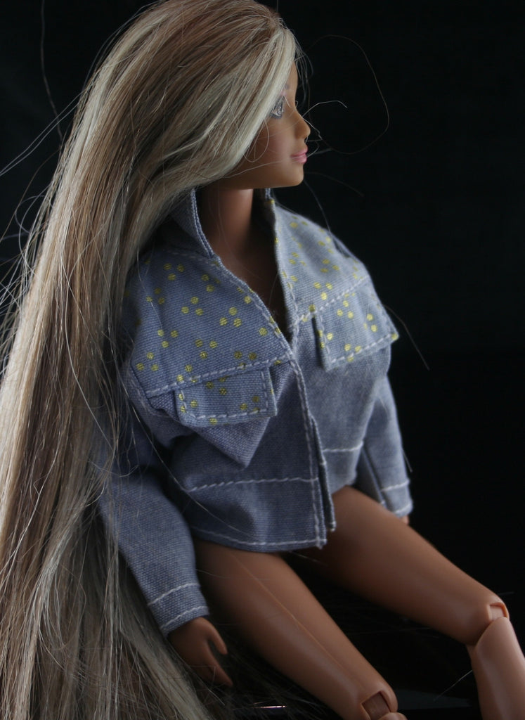 Blue denim Barbie jean jacket