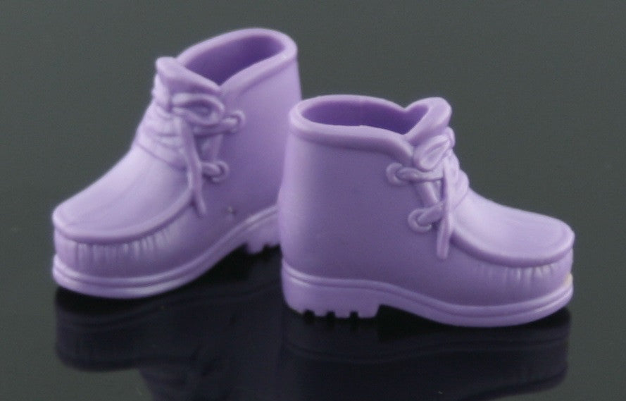 Barbie Size Shoes -- Purple Hiking Boots