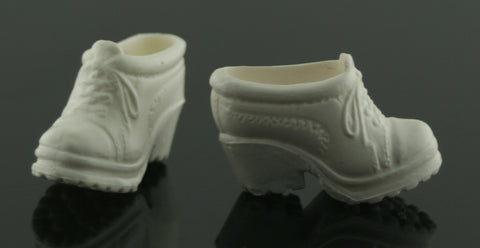 Barbie Shoes -- White High Heel Rubber Sneakers Nurse Shoes
