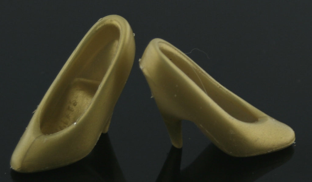 Barbie Shoes -- Gold Classic Pumps