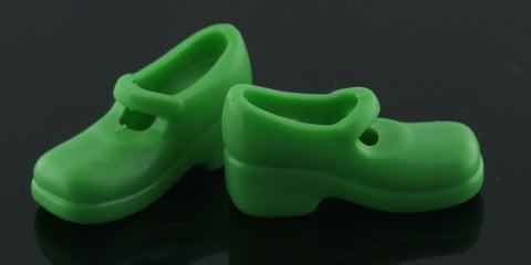 Barbie Size Shoes -- Bright Green Mary Janes