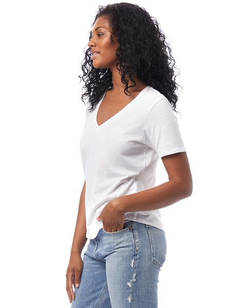 Organic Cotton V-Neck T-Shirt White
