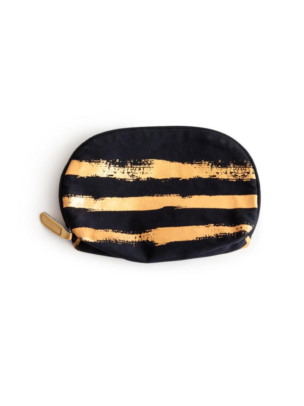 Rosanna Cosmetic Bag Gold Brush Stroke