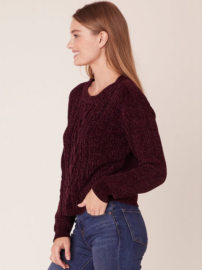 No Chill Cable Knit Sweater Boysenberry