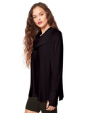 Cowl Me Maybe Tunic l Black