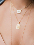 Initial Card Necklace