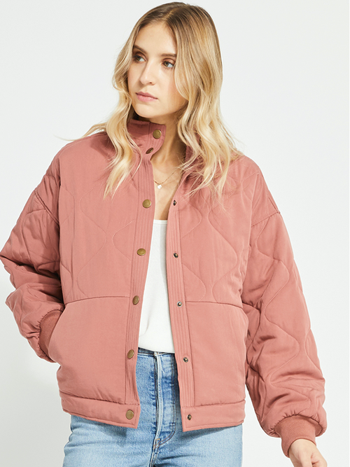 Quinn Jacket- Rose Clay