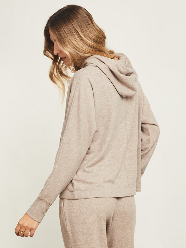 Arlo Hoodie l Heather Brown