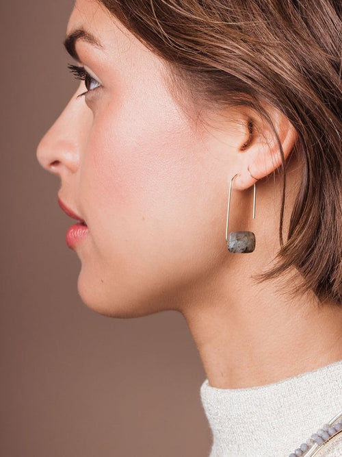 Floating Stone Earring