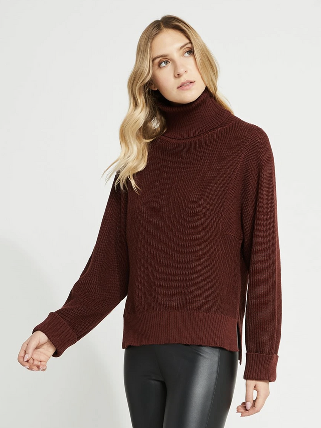 Reagan Sweater- Russet Brown
