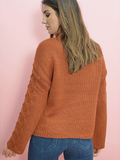 Retro Active Cable Knit Sweater - FINAL SALE