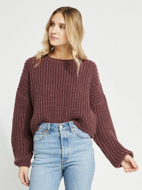 Parvene Sweater- Burgundy