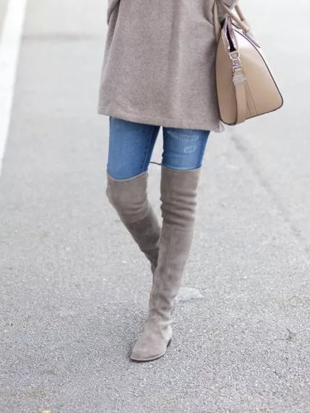 Over The Knee Faux Suede Boot - FINAL SALE