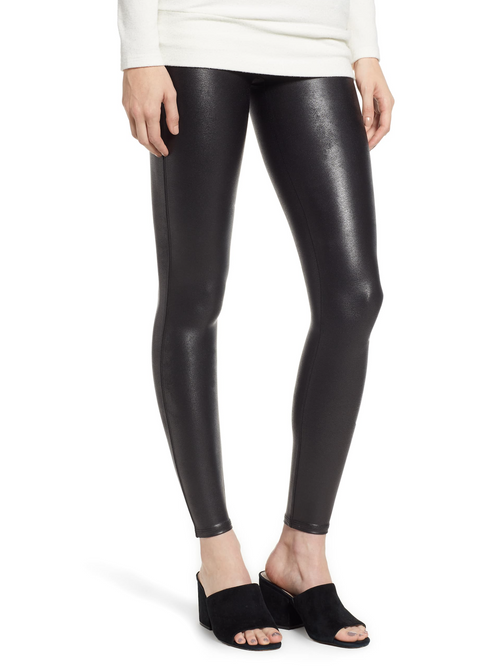 Faux Leather Leggings Petite