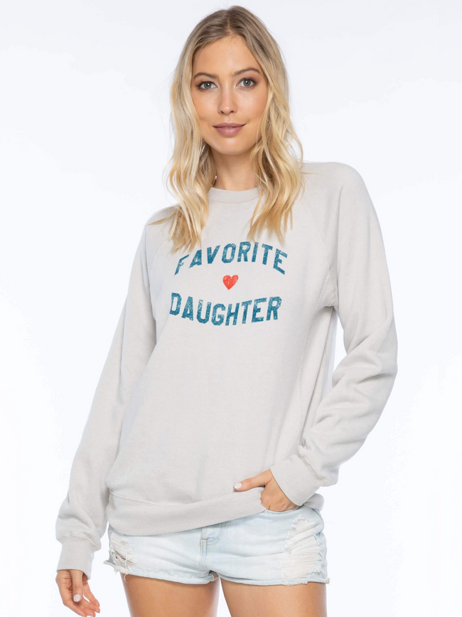 Favorite Daughter Sweatshirt - Oatmeal