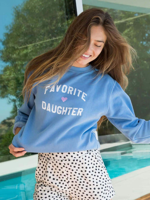 Favorite Daughter Sweatshirt - Blue